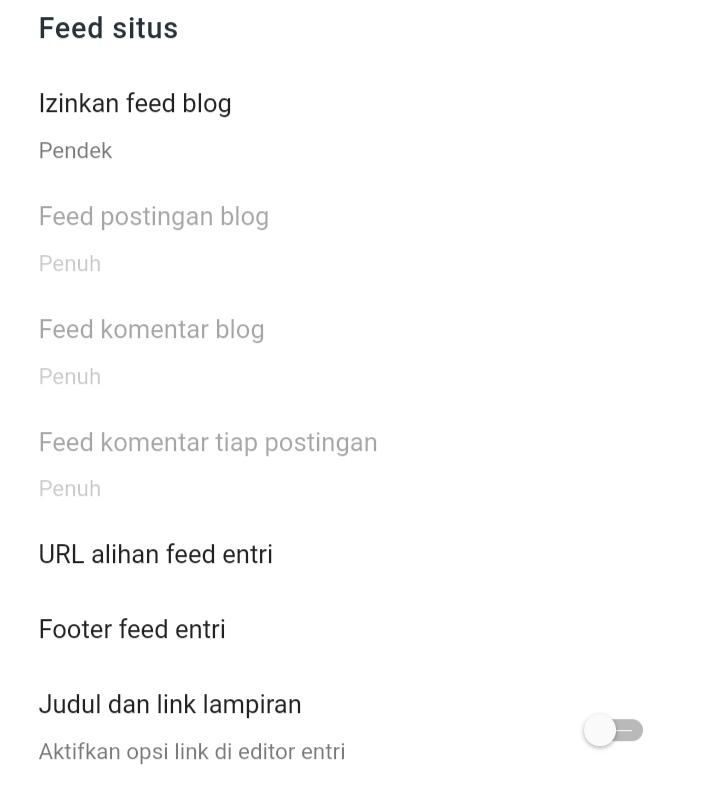 Cara setting feed situs blogger